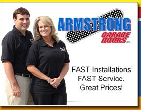 Photo of a Armstrong Garage Door service tech